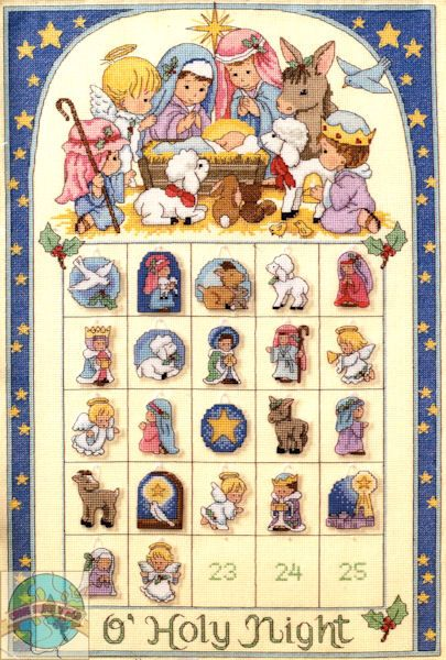 Dimensions Cross Stitch Patterns Free | Dimensions - O' Holy Night Advent Calendar - Cross Stitch World