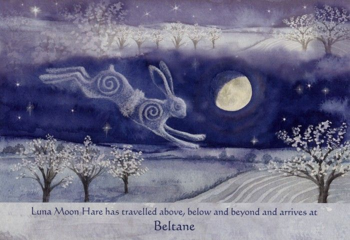 Luna Moon Hare at Beltane by Wendy Andrew