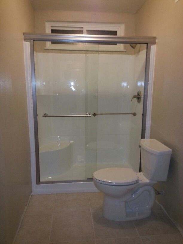 Don 39 T Replace That Fiberglass Shower Stall Reglaze It Add New Fixtures Shower Door Toilet