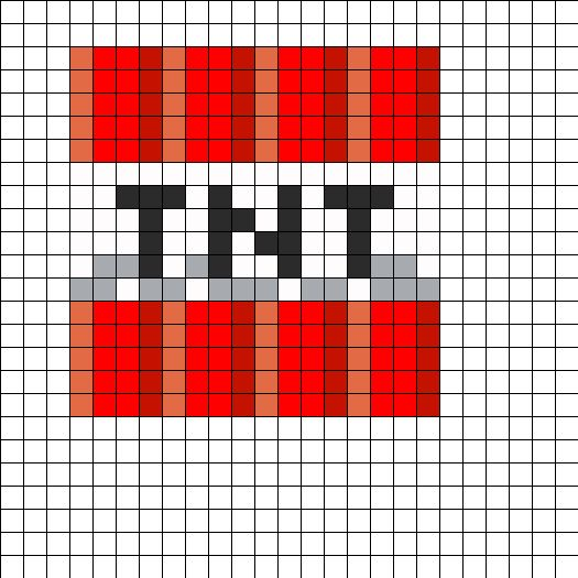 Minecraft Tnt Block By Azhuresjewels On Kandi Patterns