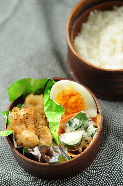 Daikon (white radish) and chicken bento.... yum!
