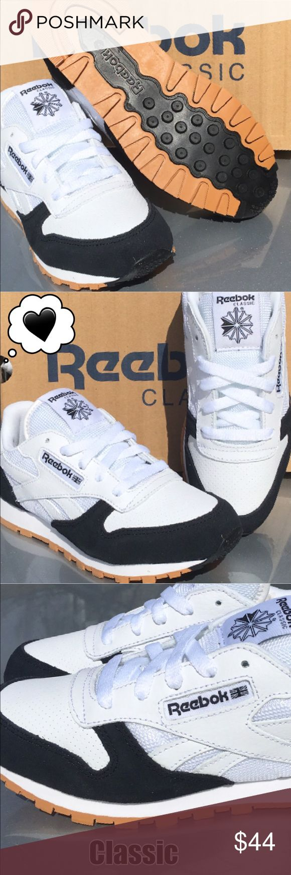 New Reebok Classic Sneaker for Boy or Girl❤️ Everyone Loves them! New Reebok Classic sneaker for boys or girls Always one of our best.. Reebok Shoes Sneakers
