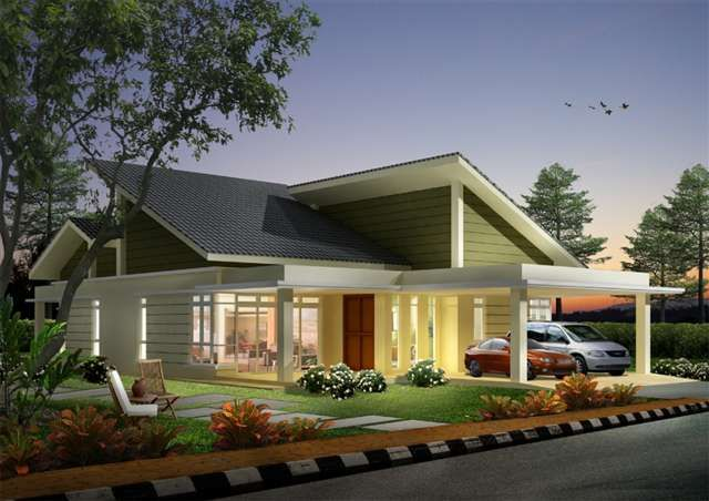 Single storey bungalow house plans out of 7 house for Single storey bungalow design