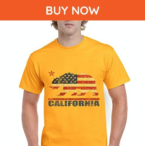Ugo California Americana Bear Gift for Hollywood CA USA Flag 4th of July {GARMENT_SHORT} - Cities countries flags shirts (*Amazon Partner-Link)