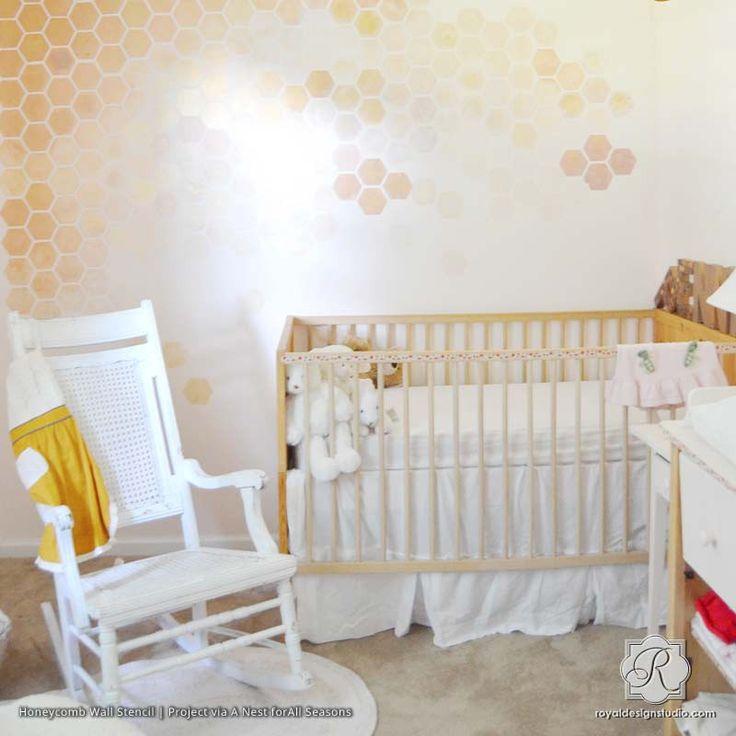 Honeycomb Allover Wall Stencil