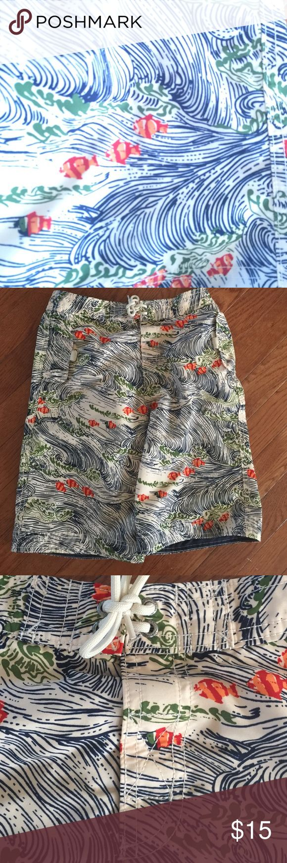 Lands Ends kids Swim Trunks size 10/12- looks New Lands Ends kids Swim Trunks size 10/12- looks New Lands' End Swim Swim Trunks