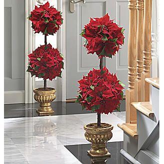 Poinsettia topiary
