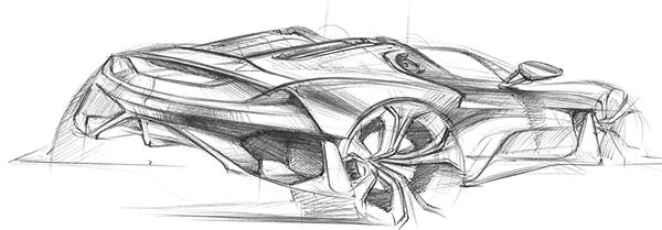 Herman Delos Santos Concept Car Sketch