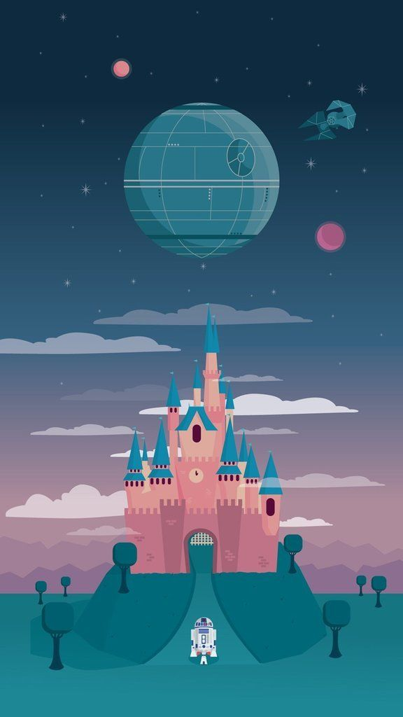 Star Wars heads to Disneyland in this wallpaper: