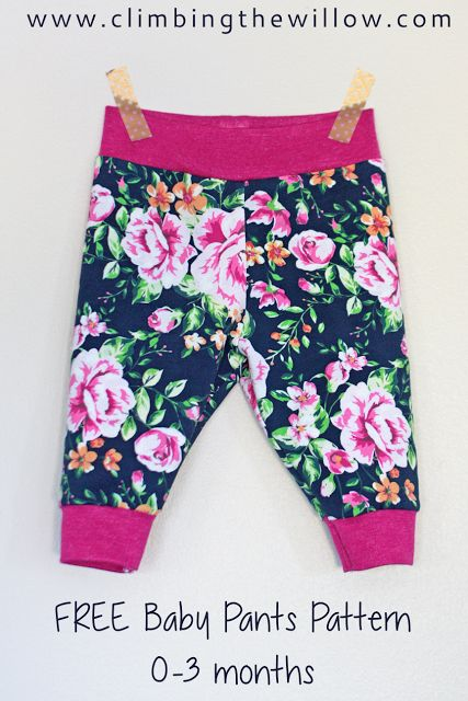 Baby basics tutorial - pants with yoga waistband