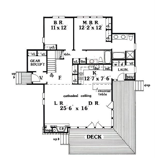 Cabin Style House Plan 3 Beds 3 Baths 1814 Sq Ft Plan 456 10 House Plans Log Cabin Plans Floor Plan Design