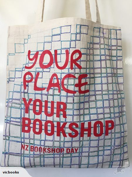 Vic Books in Kelburn, Wellington have their unique #nzbookshopday bags, full of goodies, on Trade Me. The proceeds go to your fave NZ school.