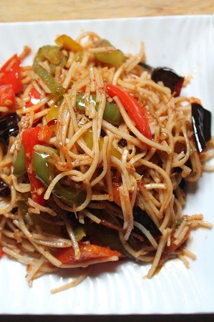 YUMMY TUMMY:Spicy Chinese Chilli Garlic Noodles Recipe