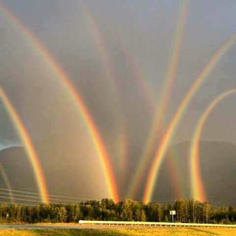 Eight Rainbows! Quite The Phenomenon...Seen In Lehigh Valley, PA.