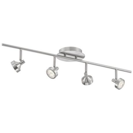 9 best track lighting images on pinterest kitchen lighting pro track four light brushed steel led ceiling light aloadofball Images