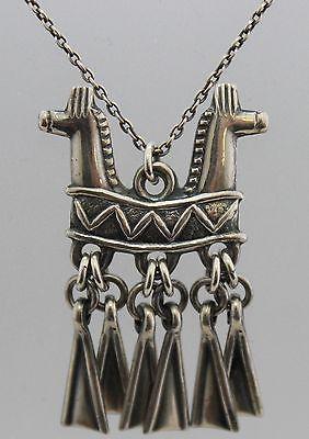 Holger Lindström, Sterling Silver Double Horse Head Necklace, 1972. #Finland