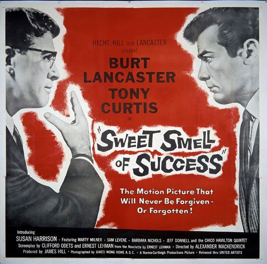 """via #IVPDA member Movie Art """"The director of the week at http://Filmstruck.com  is Alexander Mackendrick.  Great streaming for classic films @FilmStruck   Here is the wonderful six sheet from Sweet Smell of Success https://www.movieart.com/sweet-smell-of-success-1957-14935/"""""""