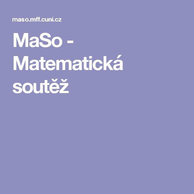 MaSo - Matematická soutěž