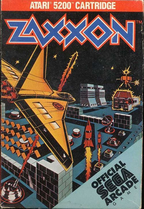 zaxxon box art... - (atari 5200)(cartridge)(videogames)