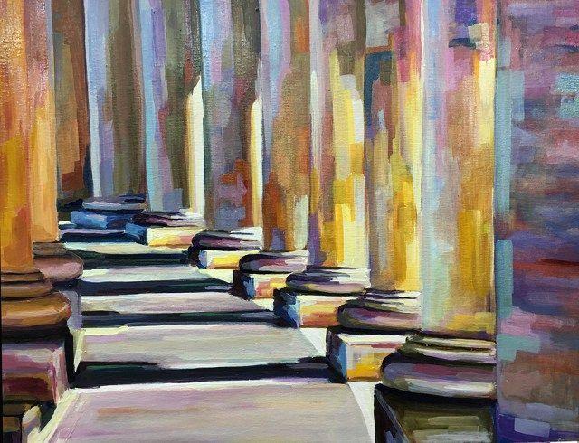 Óleo sobre lienzo.  #degranero #cursos #dibujo #pintura #fotografia #madrid #clases #academia #taller #arte #bellasartes #grafito #aprenderadibujar #aprenderapintar #aprenderahacerfotografías #art #draw #paint #photograph #artclass www.degranero.es