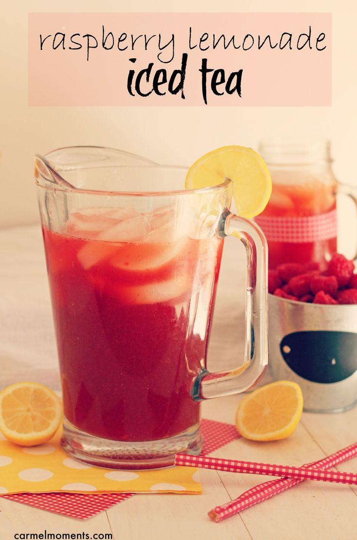 Raspberry Lemonade Iced Tea Delicious and refreshing for summer. #drinks #raspberry #tea