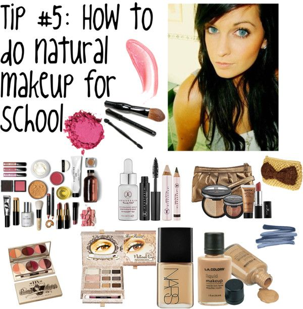 how to put on makeup for school