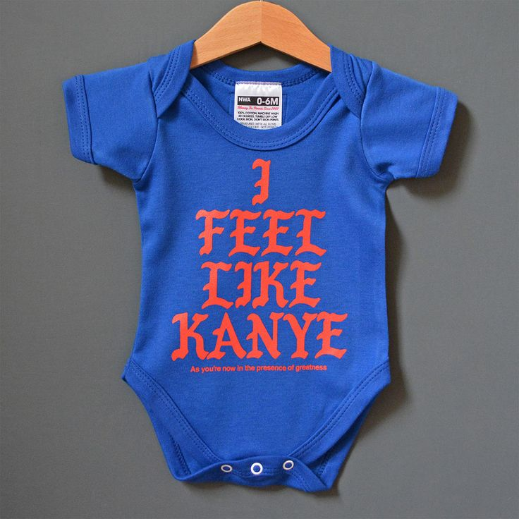 Cool baby Xmas gift for fans of Kanye West. I Feel Like Kanye Baby onesie. #kanye #kanyewest #babyxmasgifts #ifeellikepablo