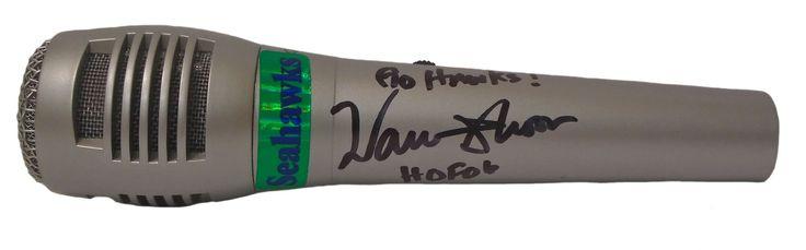 Warren Moon Autographed Seattle Seahawks Pyle Full Size Microphone, Proof Photo