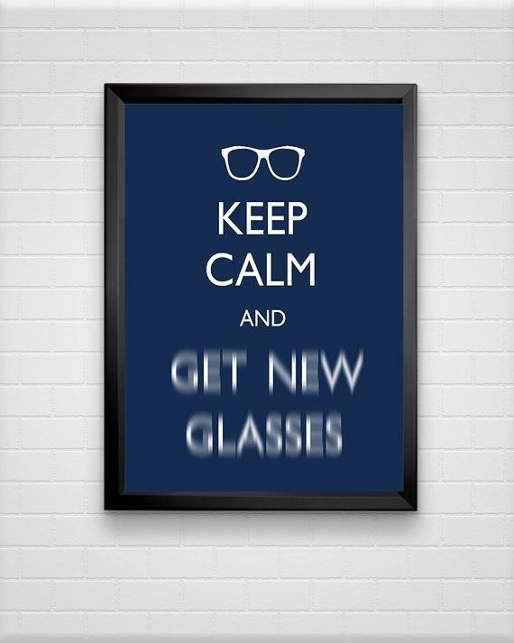 Keep Calm Prints Typography Print Optometrist Gift door ModPopDeco