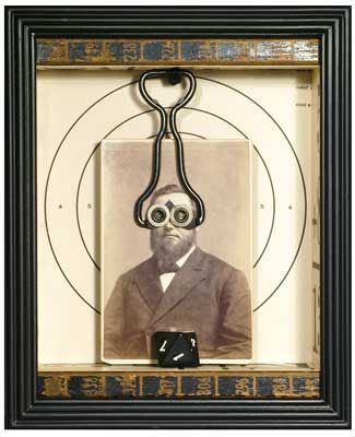 Joseph Cornell- I like the reference to optometry and the juxtaposition of the serious photograph and the humorous result
