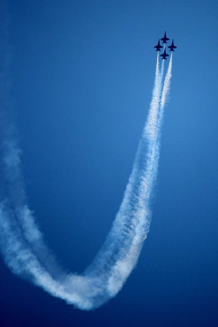 #Blue #Angels performance over Southwest Pensacola near Naval Air Station~