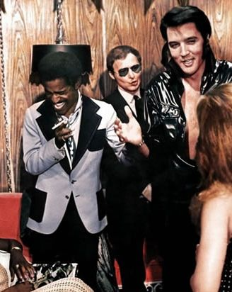 #elvis and Sammy Davis Jr....Party after the opening night of the hotel in Vegas...69