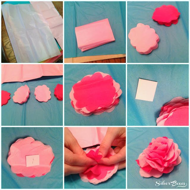 How To Make Things Out Of Paper Part - 26: Silver Boxes: How To Make Tissue Paper Flowers