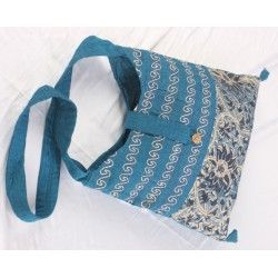 Blue single strap bag