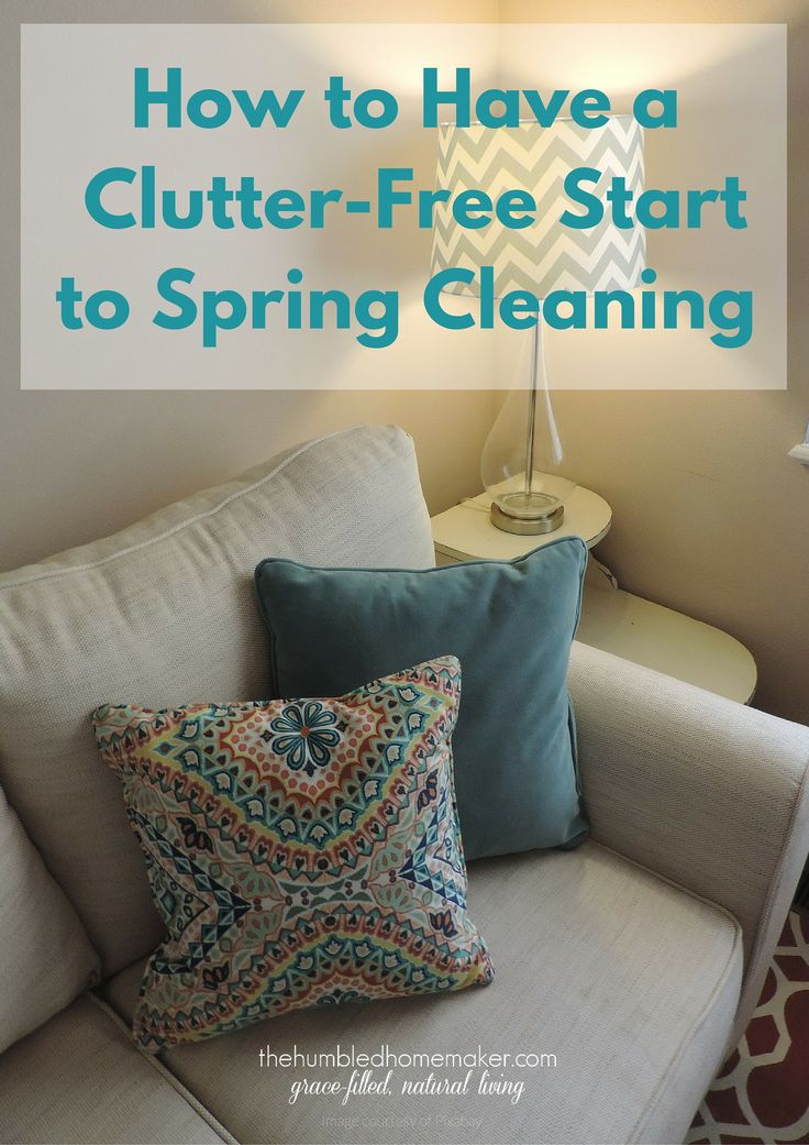 Before spring arrives, it's time to start planning a clutter-free start to spring cleaning!