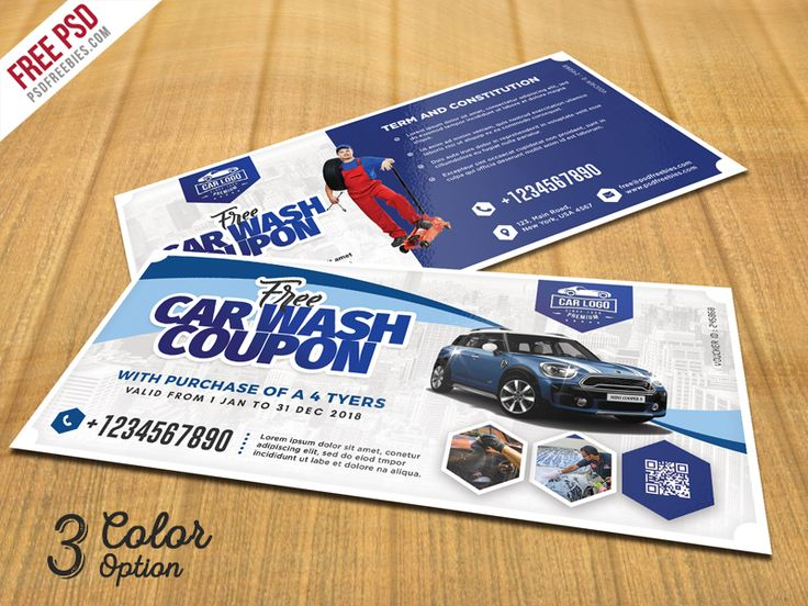 Best 25 car wash coupons ideas on pinterest car wash wax car wash coupon template psd set solutioingenieria Image collections