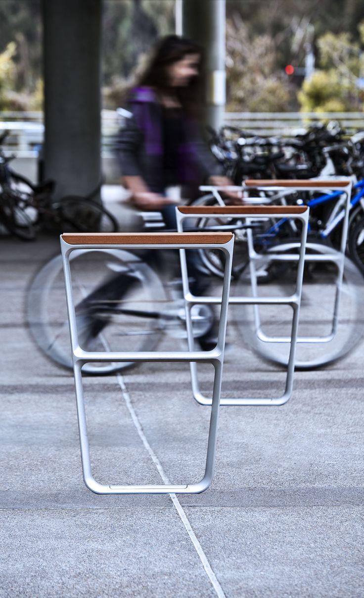MultipliCITY Bike Rack #landscapeforms #sitefurniture #outdoorfurniture…