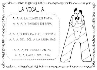 Mi grimorio escolar: CANCIÓN DE LA VOCAL A