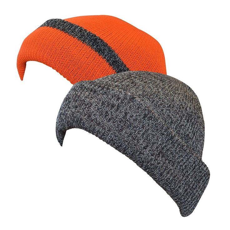 QuietWear Reversible Fleece Knit Visor Cap - Men, Brown