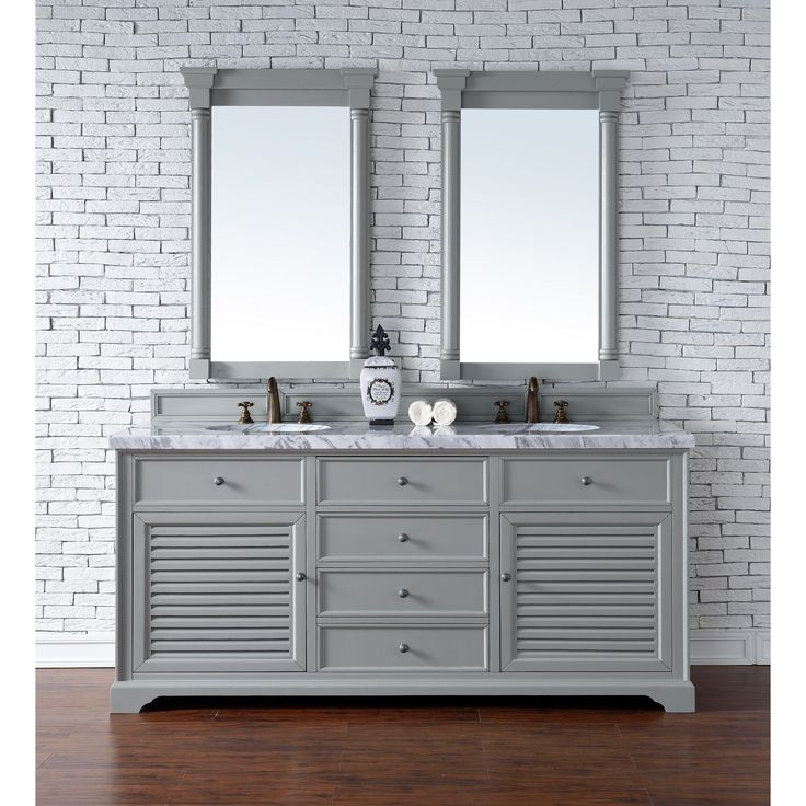 Image Gallery For Website James Martin Furniture Savannah Urban Grey inch Double Vanity Cabinet cm Carrera
