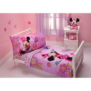 Minnie Mouse Flower Garden 4 Piece Toddler Bedding Set
