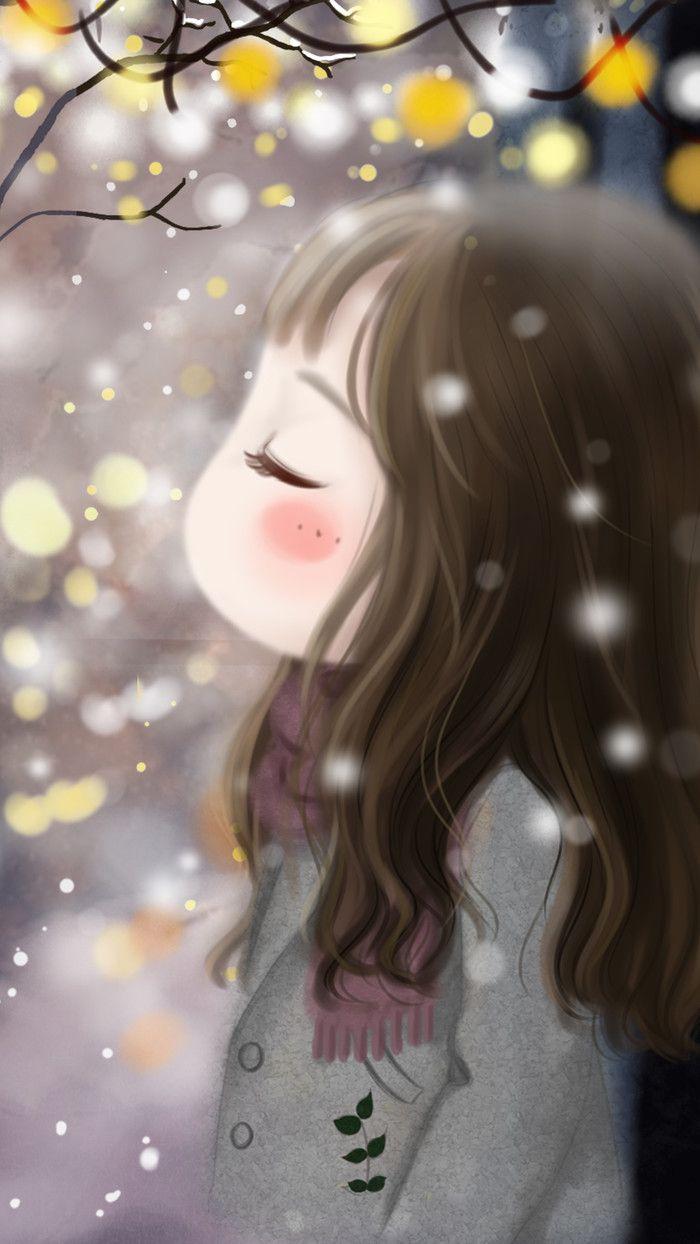 Cute Girl Wallpaper For Laptop 小薇冬日你好 Cute 1 Pinterest Cute Illustration Cute