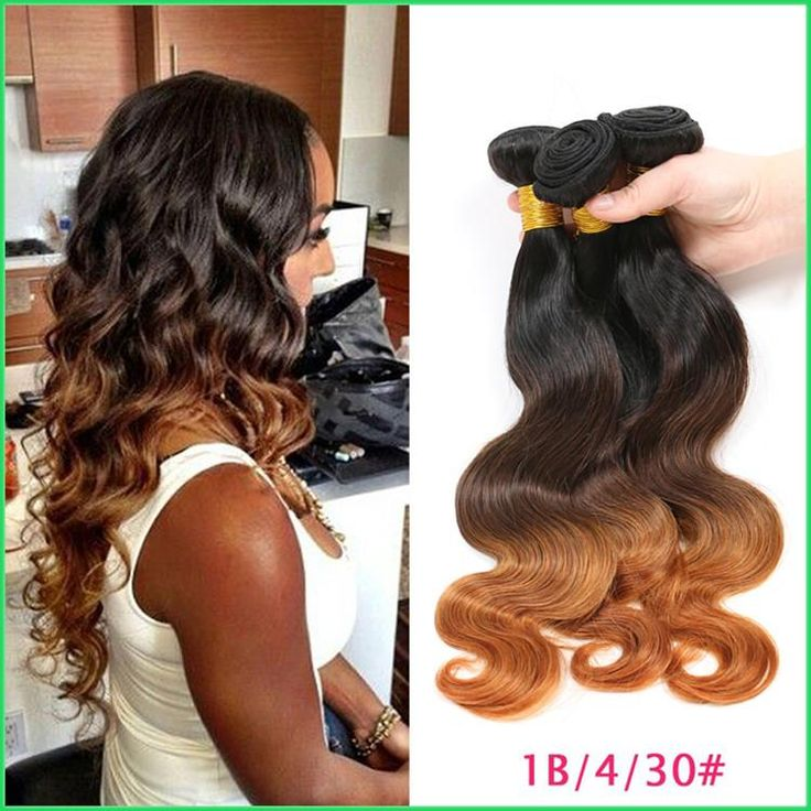 Best 25 hair weft ideas on pinterest human hair color red 1b430 three tone brazilian body wave bundlesexotic brazilian virgin hair body wave ombre sew in weavesluscious human hair weft extension pmusecretfo Images