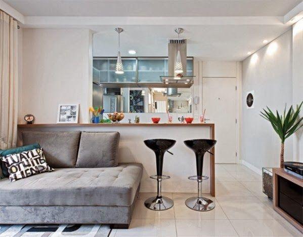Decoración de Cocinas para Apartamentos Pequeños by artesydisenos.blogspot.com