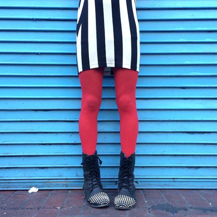 La colorita moda delle ragazze di New York dalla vita in giù fotografata da Stacey Baker