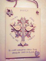 Family tree - personalised wooden keepsake £19.99