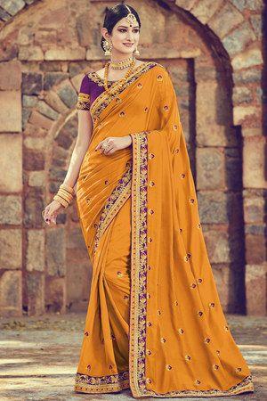 93ec30a4330fe2 Craftsvilla ... | Sarees | Silk sarees, Saree, Art silk sarees