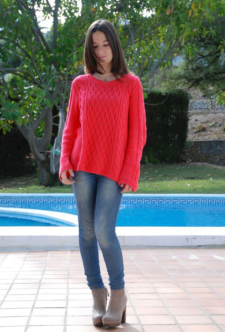 Pink fosforite sweater Jersey rosa fosforito