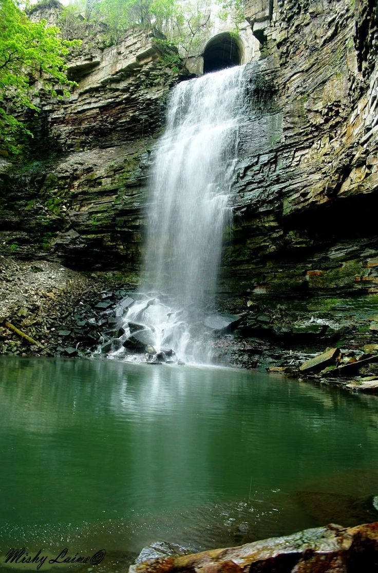 Upper Chedoke Falls- Hamilton, Ontario  I will have to make the hike this summer.