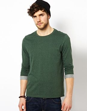 ASOS Sleeve T-Shirt With Rolled Sleeves $25.37